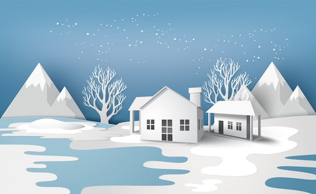 Paesaggio stagione invernale