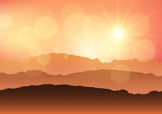 Paesaggio tramonto