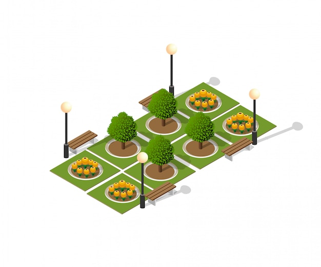 Paesaggio urbano del parco naturale