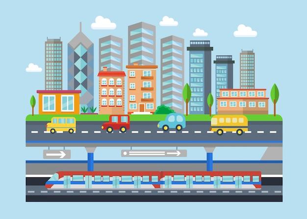 Paesaggio urbano della città del fumetto