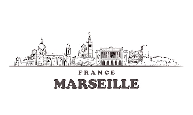 Paesaggio urbano di marsiglia, francia