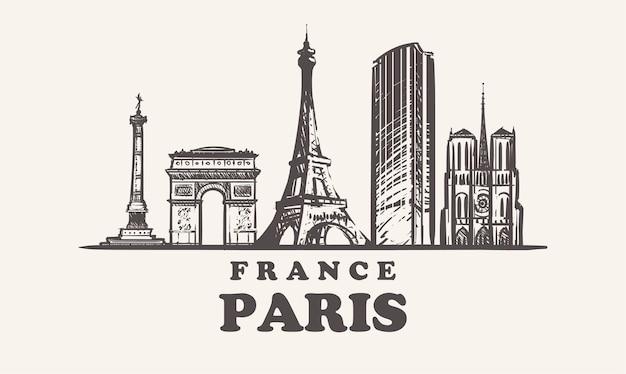 Paesaggio urbano di parigi, francia