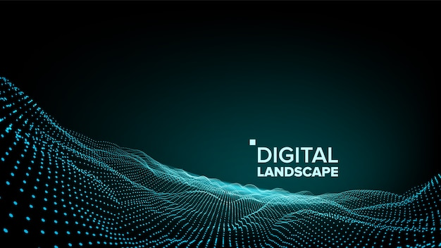 Paesaggio verde digitale