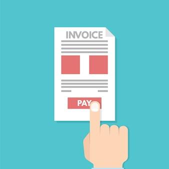 Pagamenti online, pagamento, fattura. contabilità finanziaria.