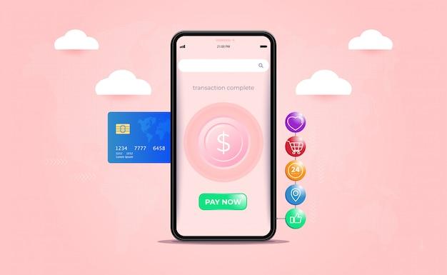 Pagamento mobile, trasferimenti di denaro, transazioni finanziarie e servizi finanziari digitali.