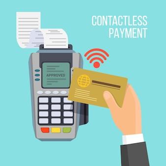 Pagamento senza contatti con carta d'oro