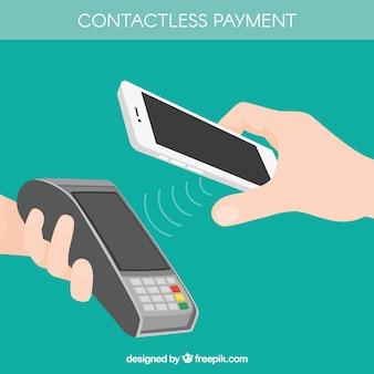 Pagamento senza contatto con la tecnologia