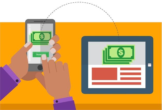 Pagamento senza fili tramite cellulare e tablet