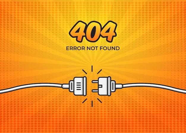 Pagina 404 errore non trovata in stile fumetto