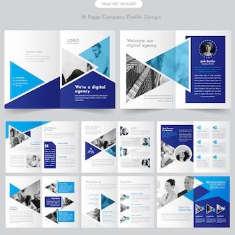 Pagina brochure del profilo aziendale