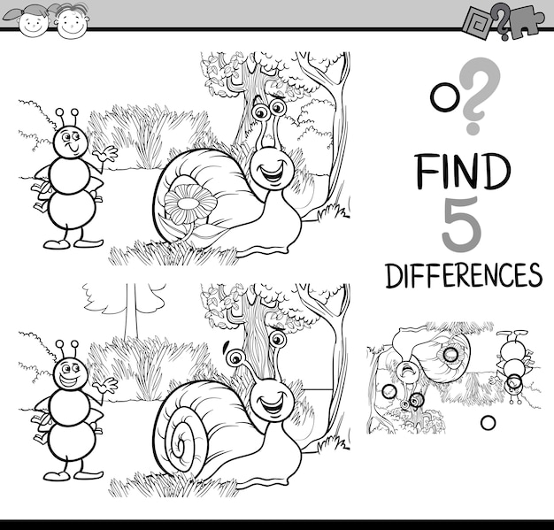 Pagina da colorare compito educativo