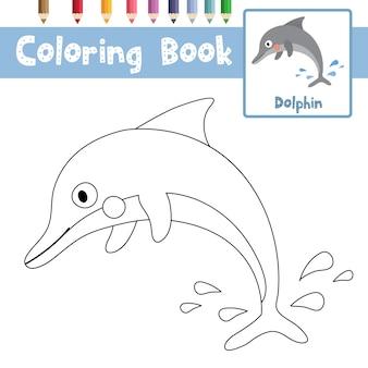 Pagina da colorare delfino