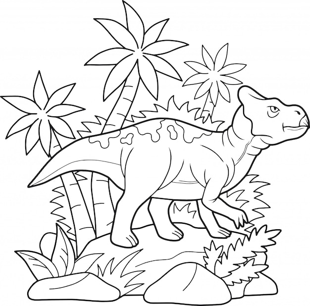 Pagina da colorare di dinosauro