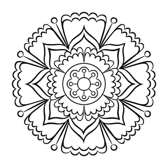 Pagina da colorare di doodle mandala
