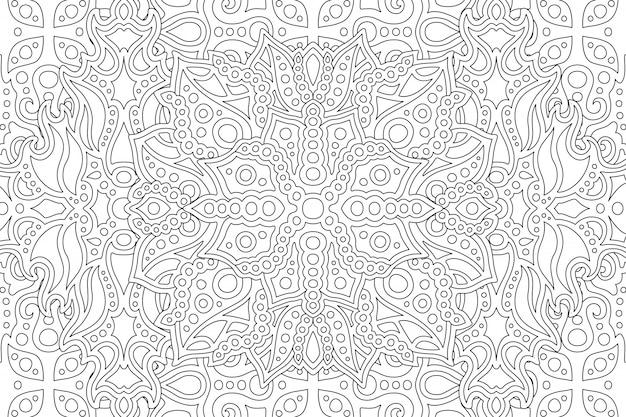 Pagina del libro da colorare con motivo bianco e nero
