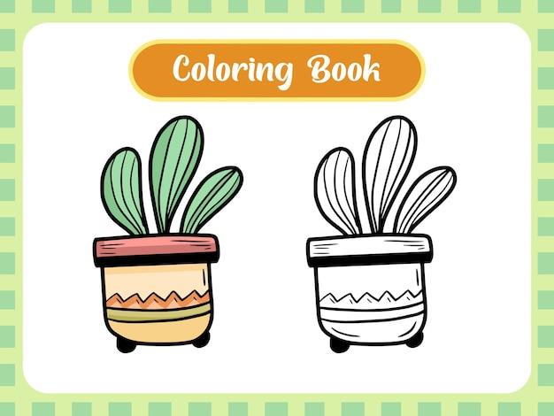 Pagina del libro da colorare di piante per bambini