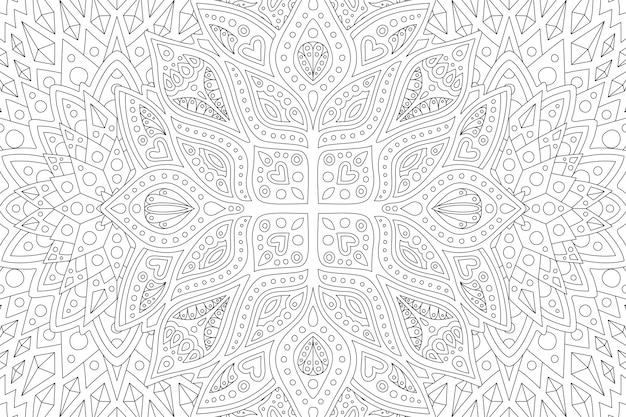 Pagina del libro da colorare withabstract lineare
