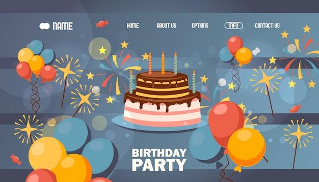 Pagina del sito web di buon compleanno,