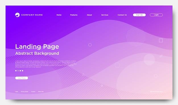 Pagina di atterraggio del sito web di sfondo, moderno stile astratto