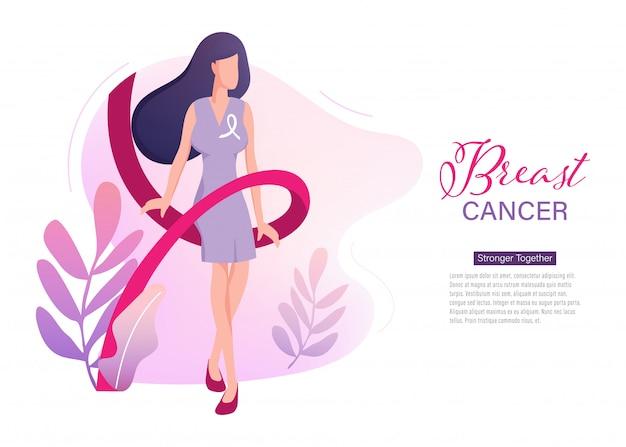 Pagina di atterraggio internazionale del giorno di cancro al seno
