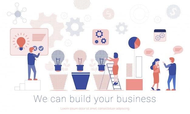 Pagina di atterraggio promozionale di business team building