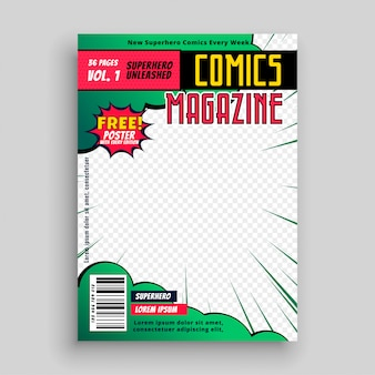 Pagina di copertina del libro di fumetti