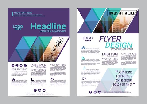Pagina di copertina del rapporto annuale. modello di progettazione del layout.