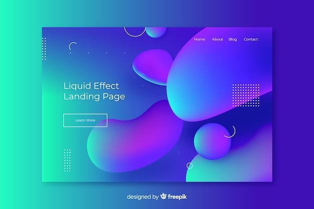 Pagina di destinazione astratta effetto liquido