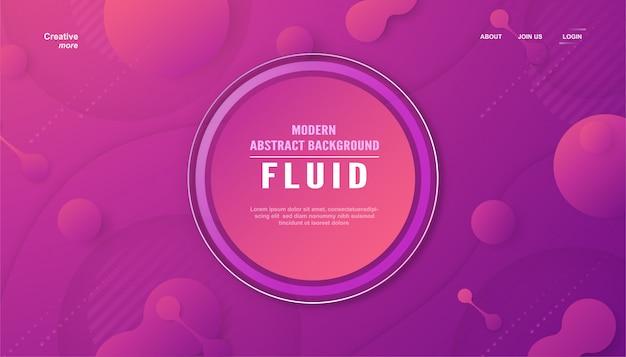 Pagina di destinazione astratta moderna in stile liquido e fluido.