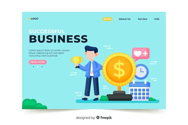 Pagina di destinazione aziendale di successo