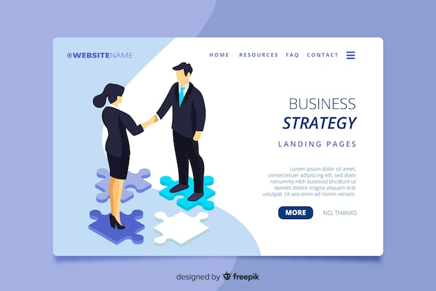 Pagina di destinazione aziendale isometrica