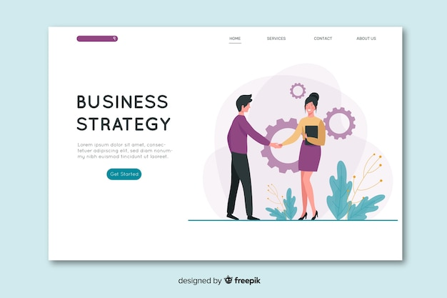 Pagina di destinazione business design piatto