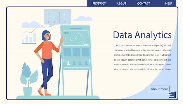 Pagina di destinazione che offre analisi dei dati professionali