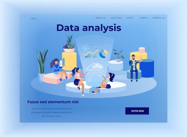 Pagina di destinazione che offre un'applicazione di analisi dei dati