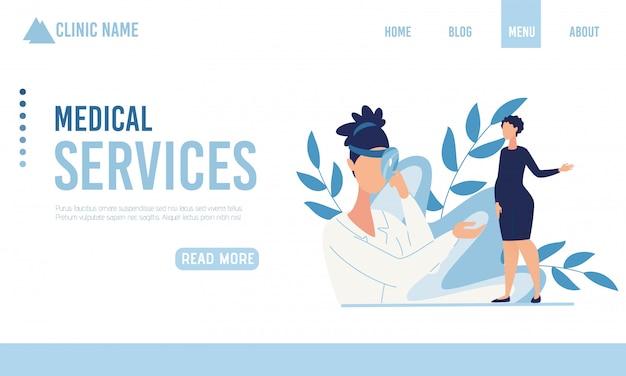 Pagina di destinazione che offre un servizio medico per le donne incinte