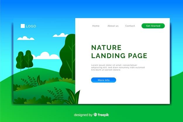 Pagina di destinazione con il concetto di natura