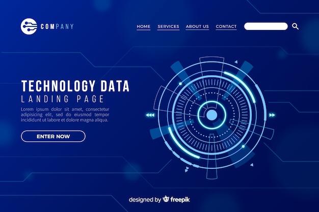 Pagina di destinazione con il concetto di tecnologia