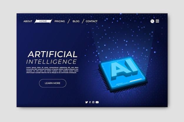 Pagina di destinazione con intelligenza artificiale