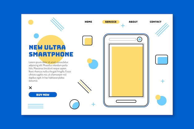 Pagina di destinazione con modello di smartphone