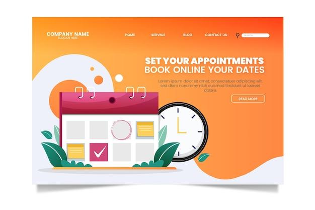 Pagina di destinazione con prenotazione dell'appuntamento