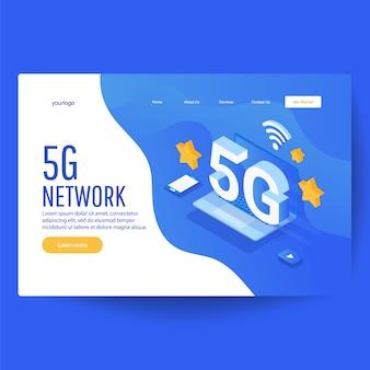 Pagina di destinazione con simbolo wireless internet e telefono cellulare