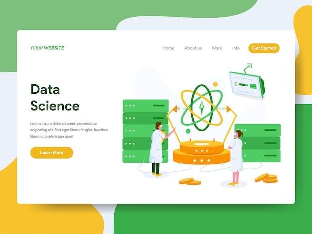 Pagina di destinazione. concetto dell'illustrazione di scienza di dati
