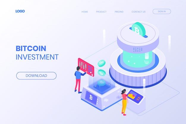 Pagina di destinazione degli investimenti isometrici bitcoin