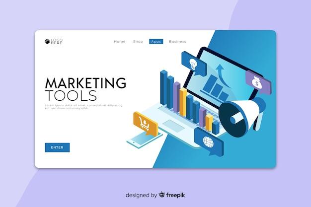 Pagina di destinazione degli strumenti di marketing