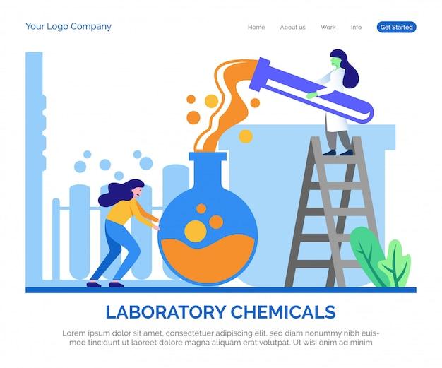 Pagina di destinazione dei prodotti chimici di laboratorio