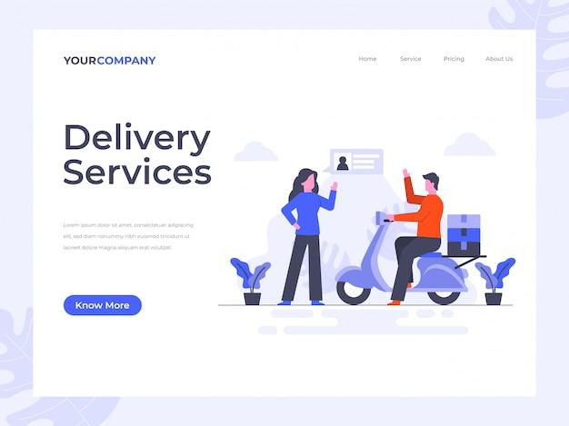 Pagina di destinazione dei servizi di consegna