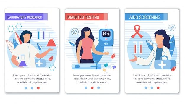 Pagina di destinazione dei social media impostata per il controllo del diabete