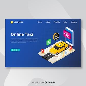 Pagina di destinazione dei taxi online