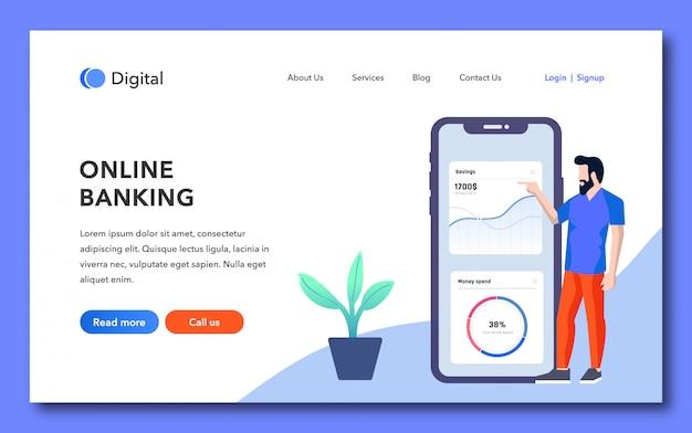 Pagina di destinazione del banking online