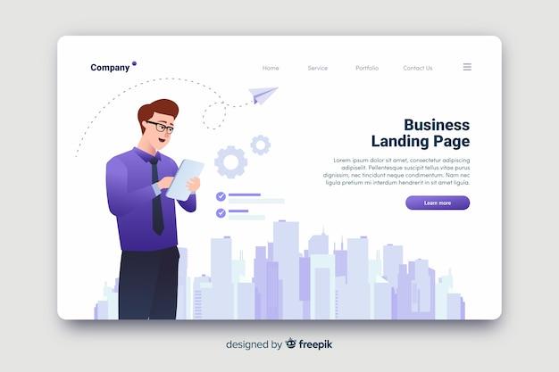 Pagina di destinazione del concetto aziendale